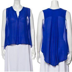NSF Sleeveless Silk Blouse Vivid Blue M